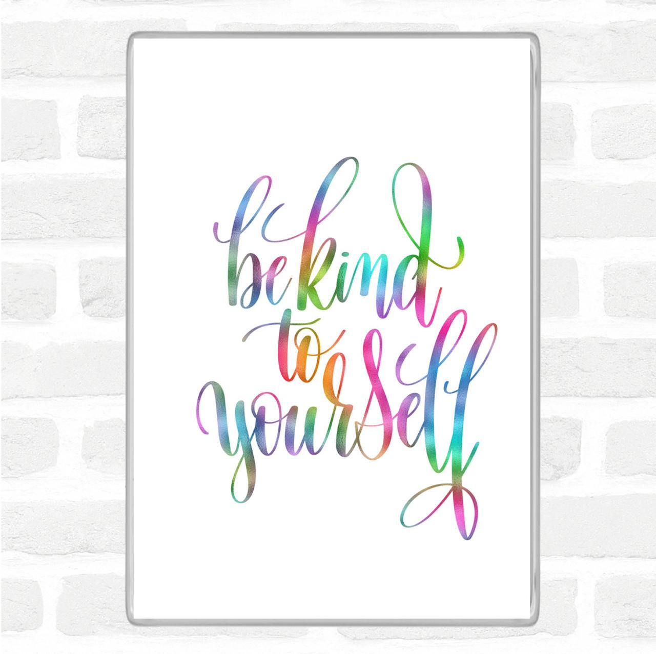 You Are My Person Rainbow Quote Jumbo Fridge Magnet