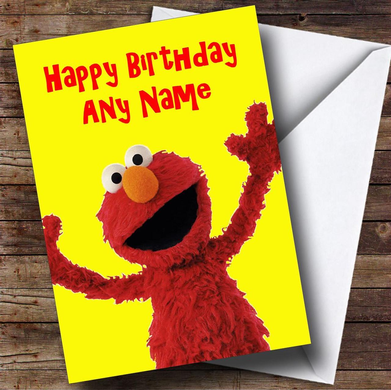 Elmo Personalised Birthday Card The Card Zoo
