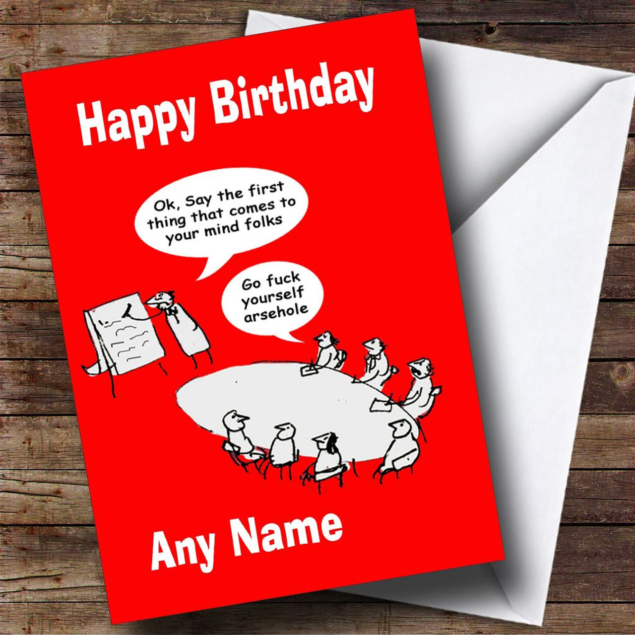 Funny Insulting Joke Personalised Birthday Card