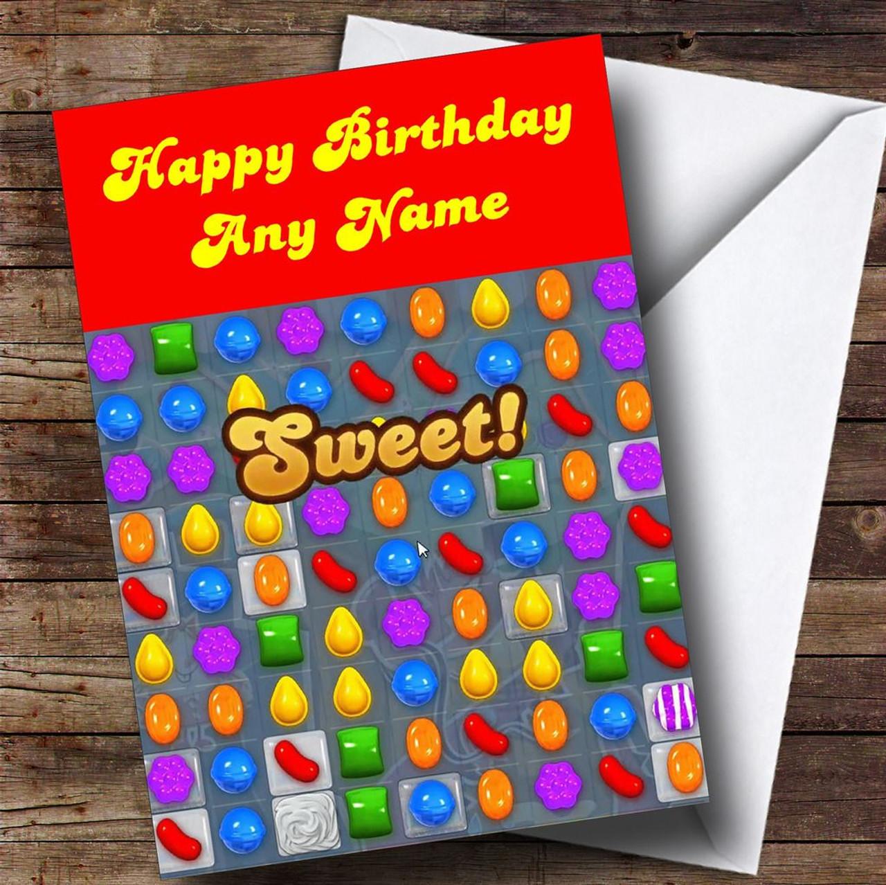 Candy Crush Saga Funny Personalised Birthday Card The Card Zoo