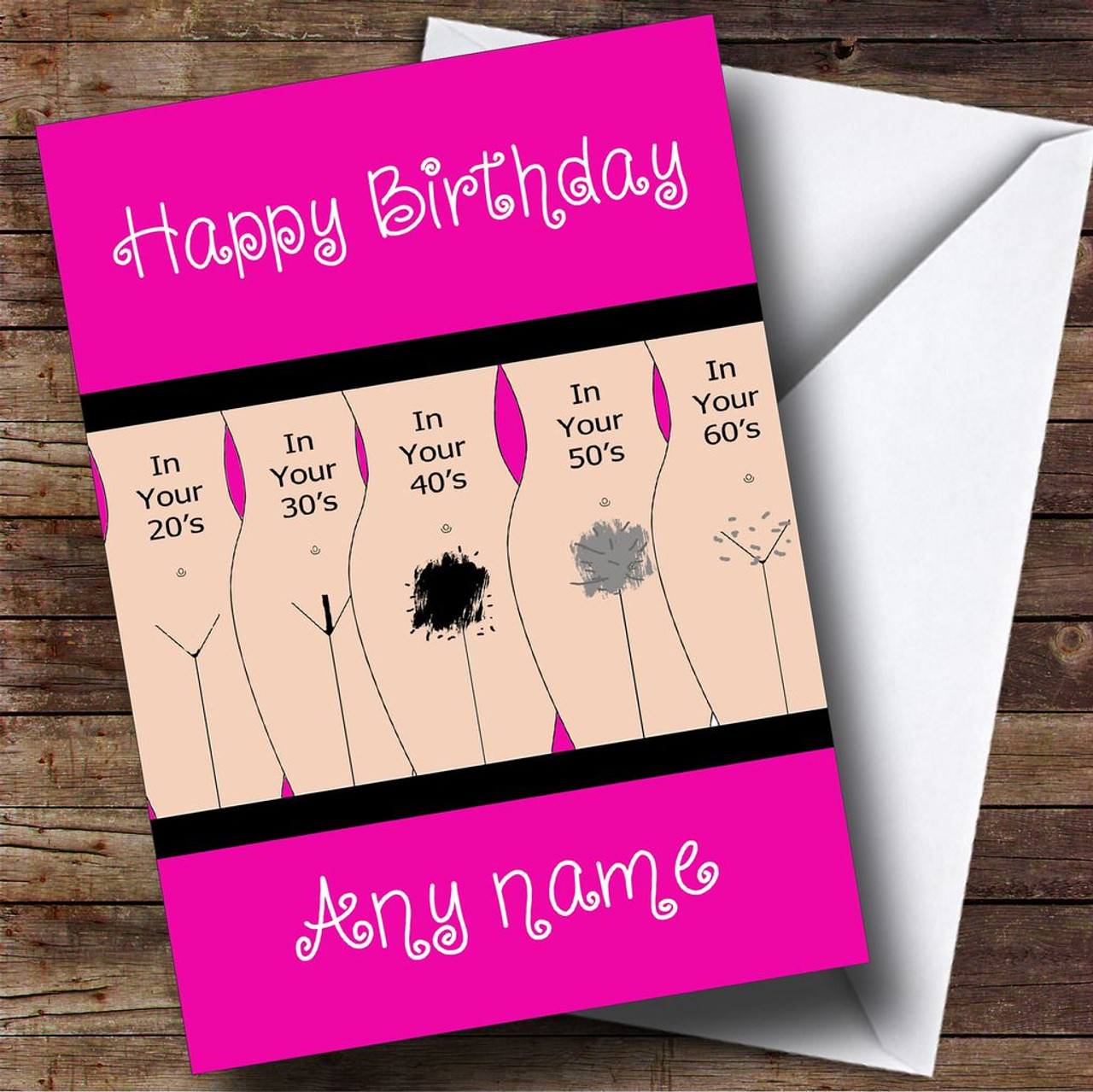 Funny Anniversary Card You made it another year Joke mean A5 Personalised Names