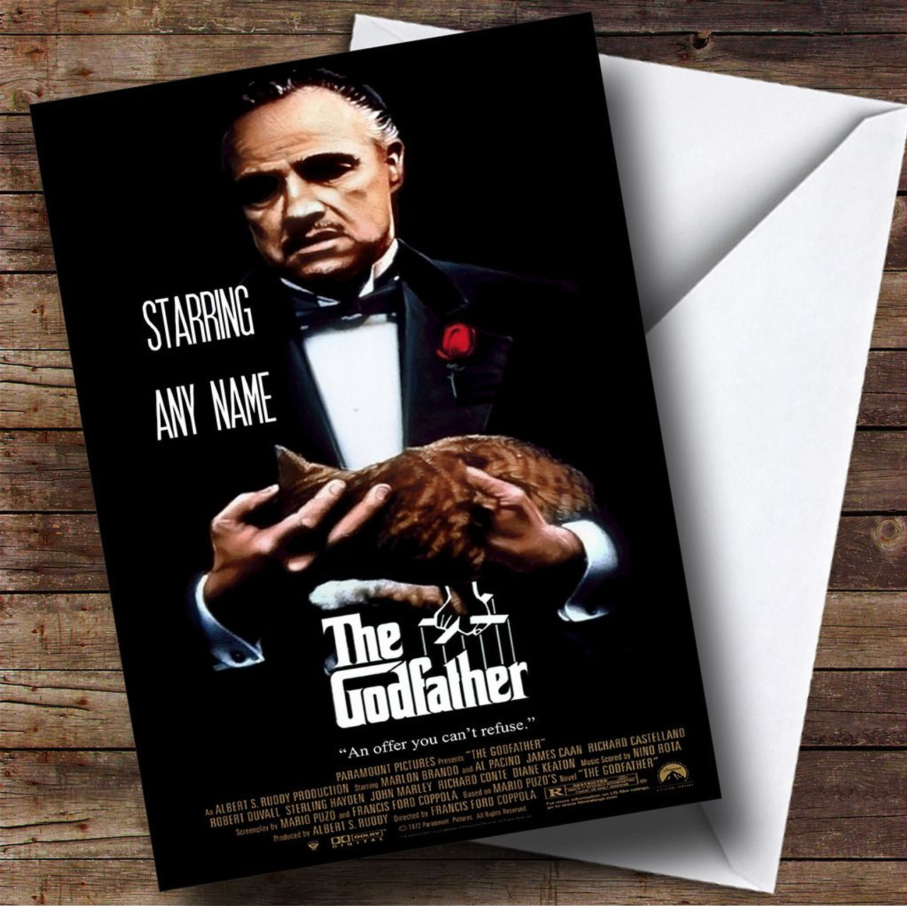 Spoof Godfather Movie Film Poster Personalised Birthday Card