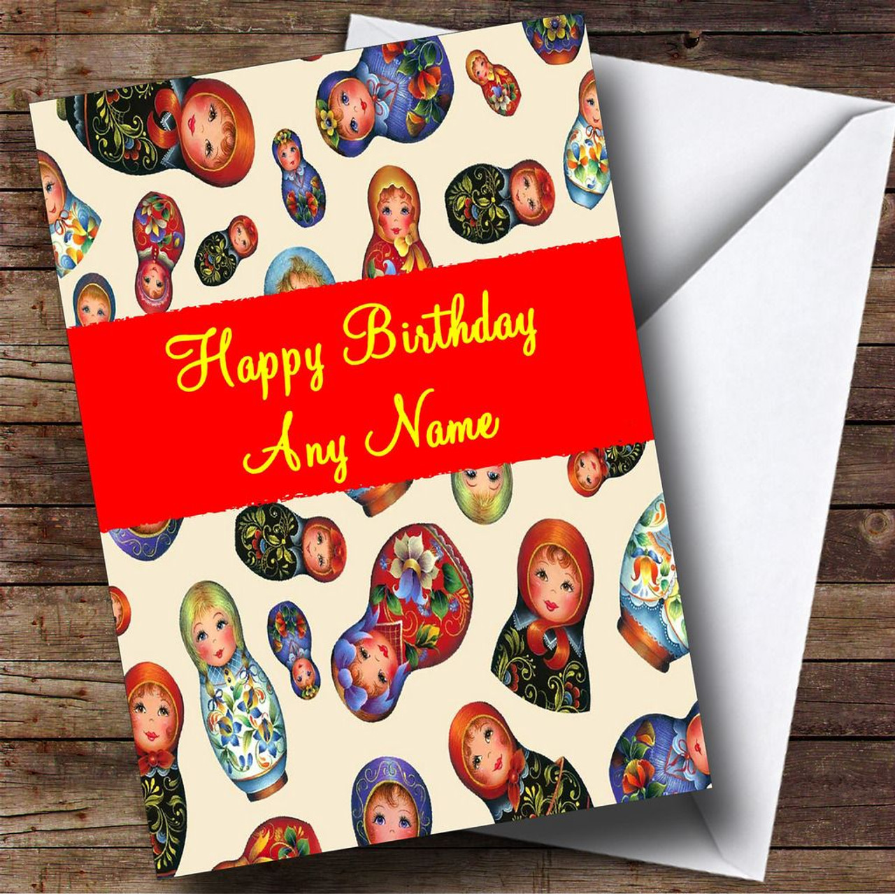 Russian Babushka Dolls Personalised Birthday Card