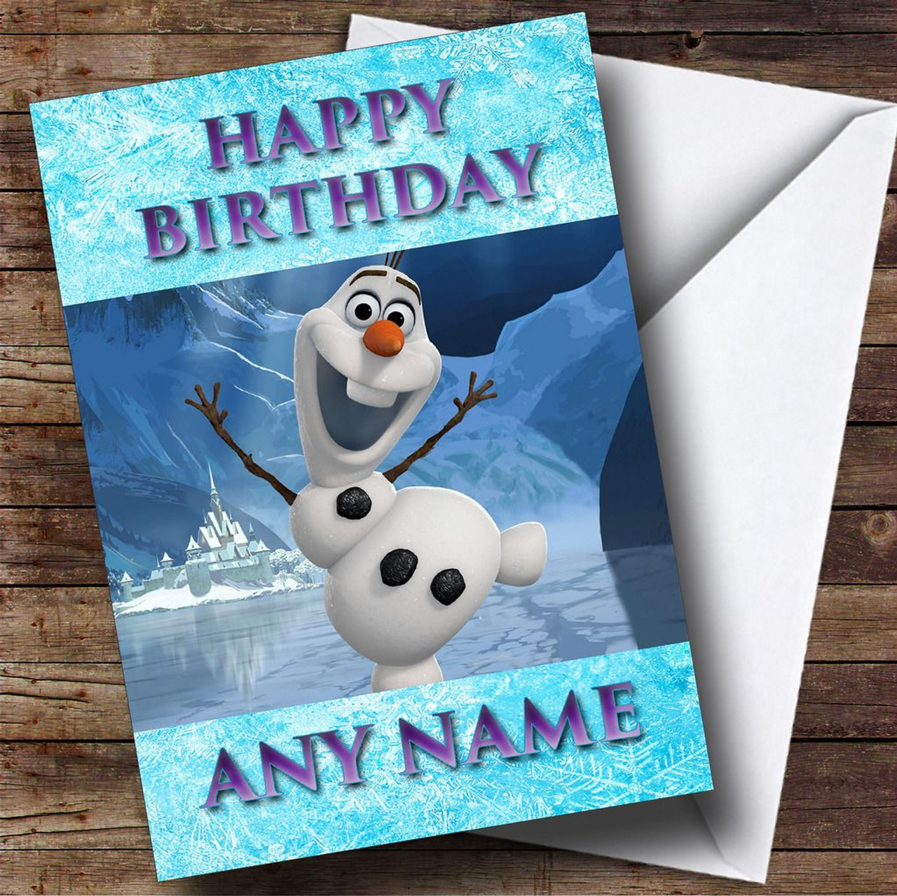Fabulous Frozen Snowman Olaf Personalised Birthday Card The Card Zoo Birthday Cards Printable Benkemecafe Filternl