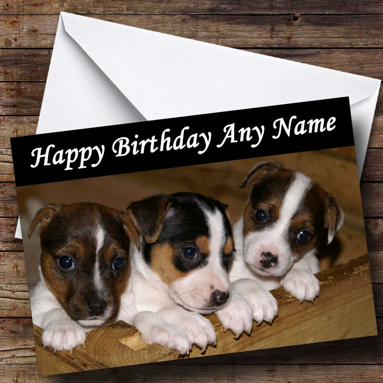 PERSONALISED JACK RUSSELL TERRIER BIRTHDAY CARD  A5 size