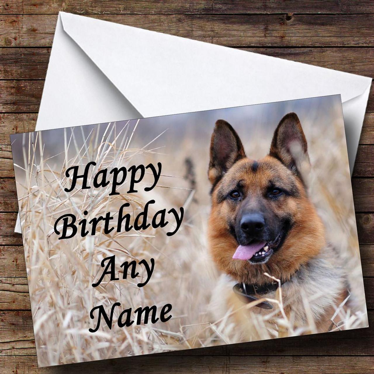 German Shepherd Personalised Memorial Word Art Birthday Gift Print ANY COLOURS