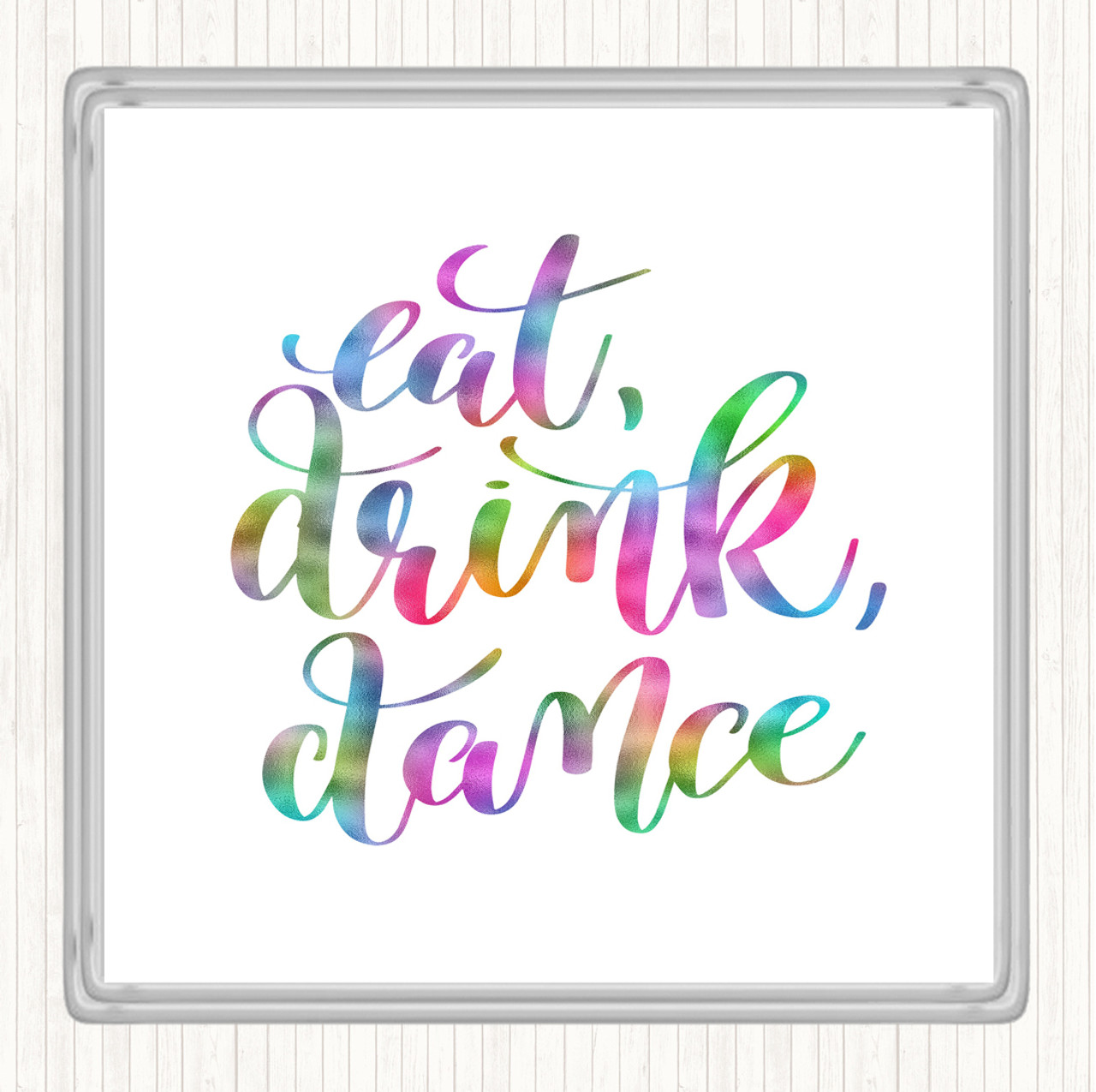 Lady Boss Rainbow Quote Drinks Mat Coaster
