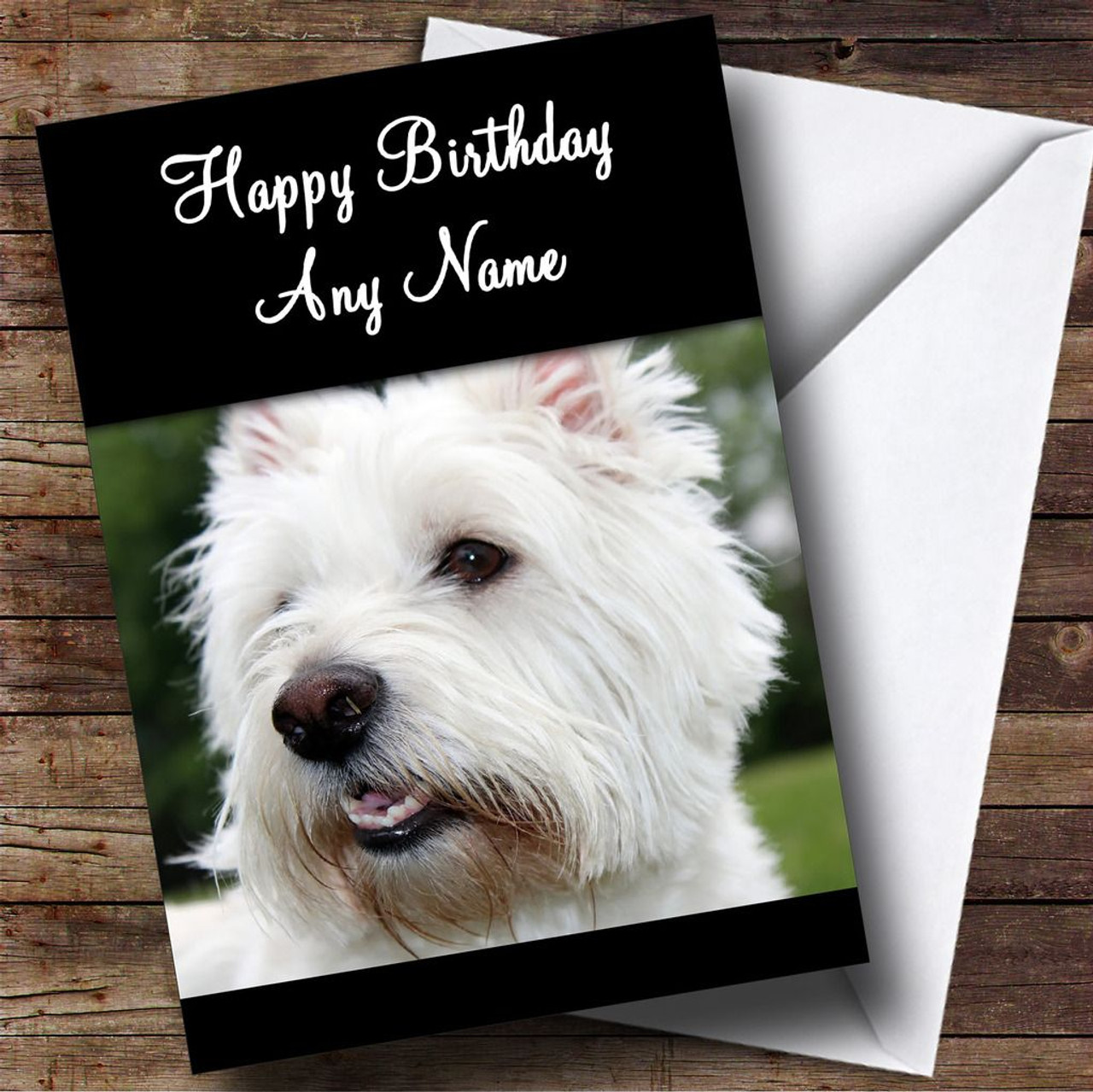 West Highland Terrier Dog Personalised Birthday Card
