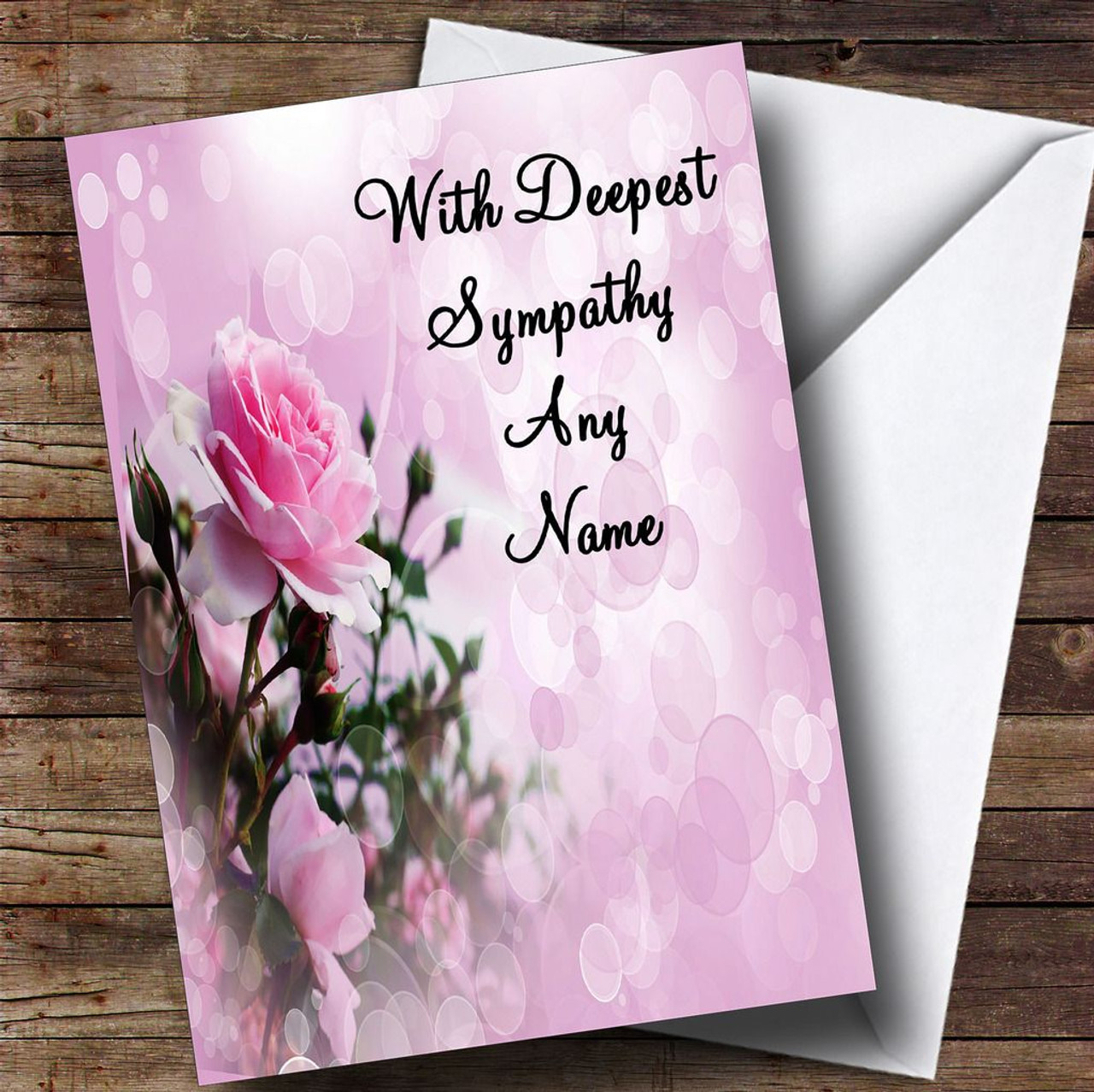Personalised Sorry For Your Loss Single Flower Sympathy Card