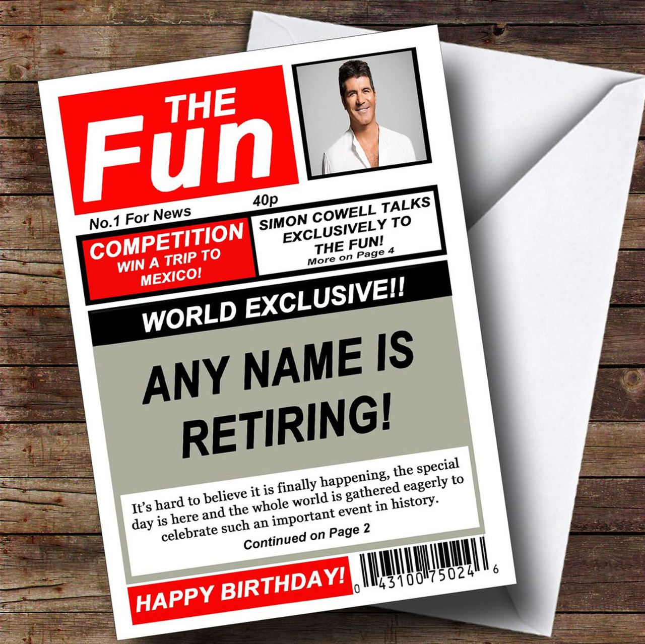 ON THIS DAY IN HISTORY Personalised Flexible Mousemat Gift Birthday retirement