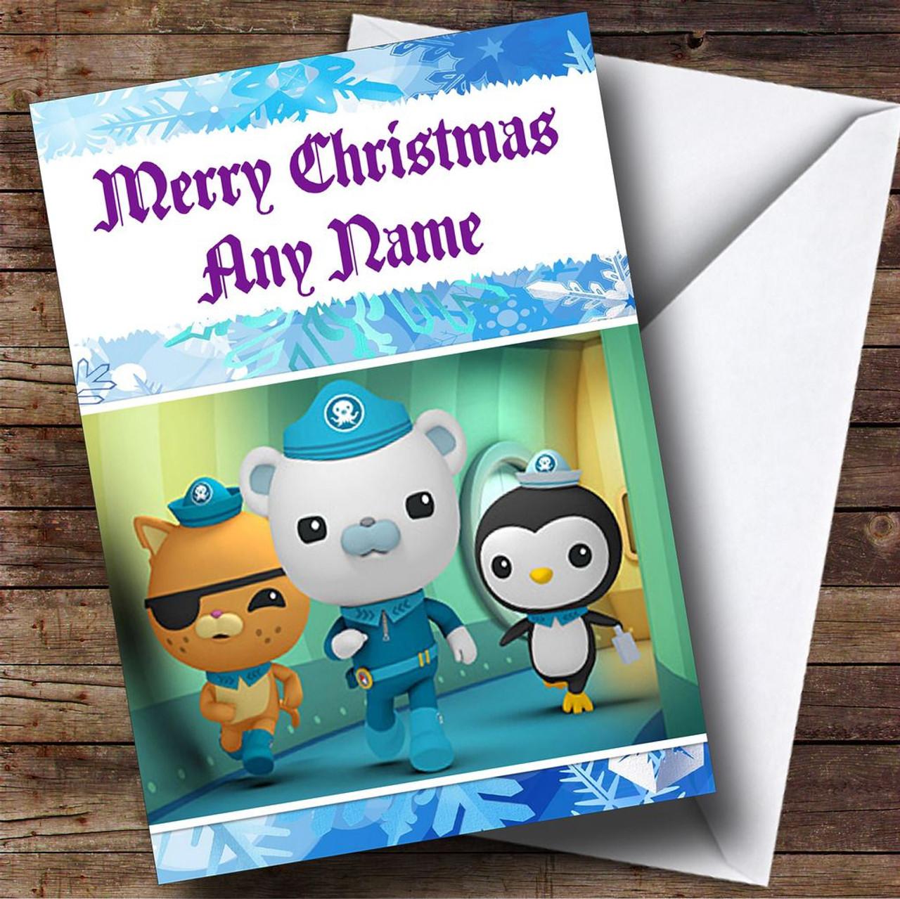 Octonaut Christmas.The Octonauts Personalised Christmas Card