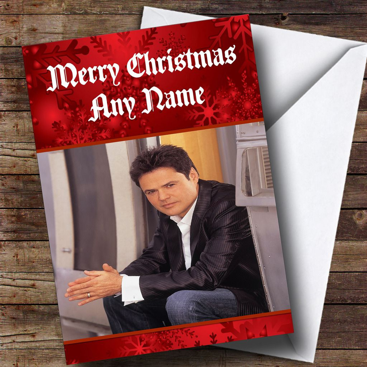 Donny Osmond Personalised Christmas Card