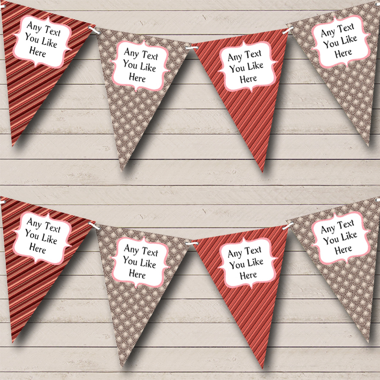 Purple Shabby Chic Vintage Floral Personalised Hen Do Night Party Bunting