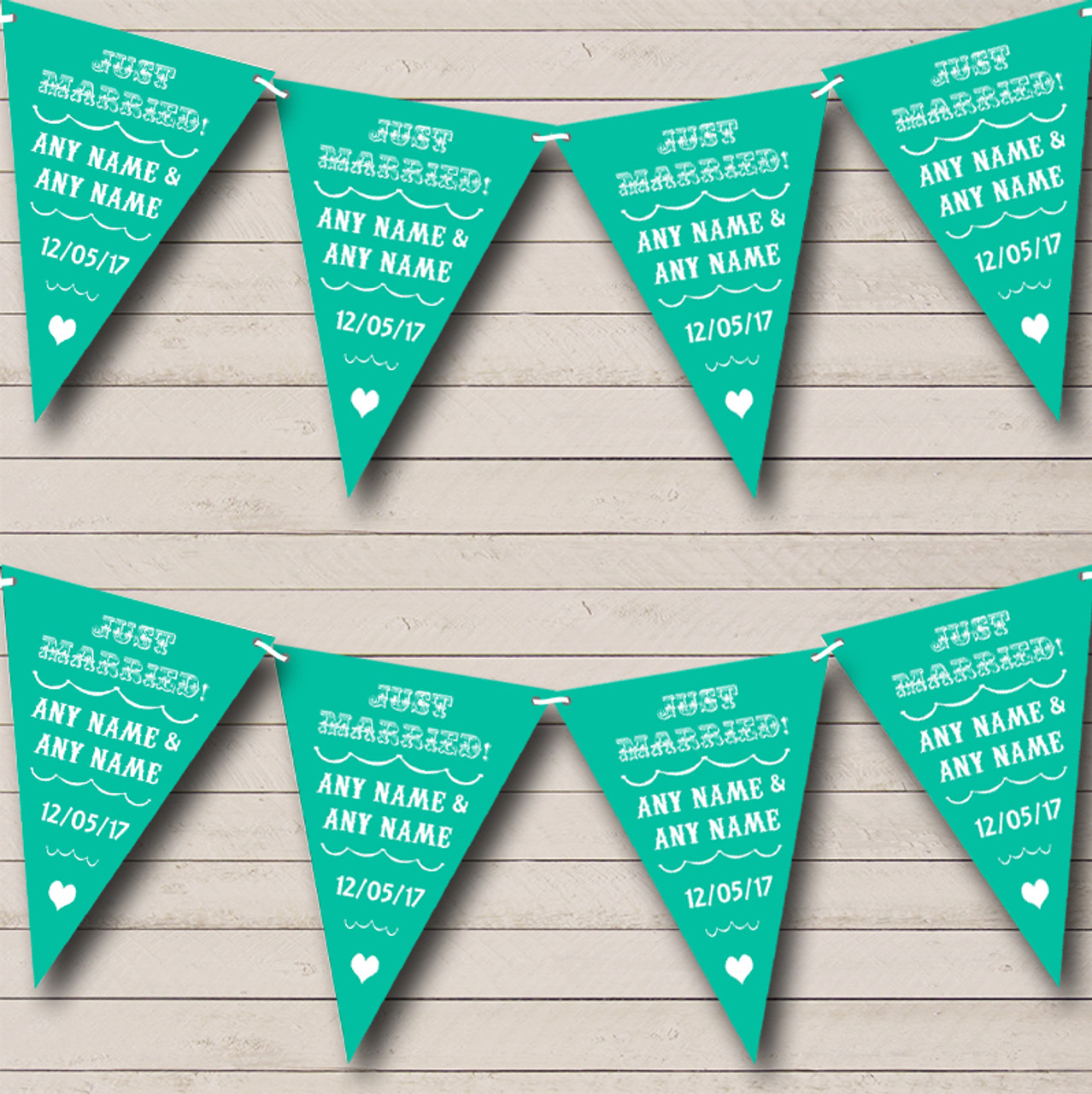 Black And Gold Vintage Damask Personalised Wedding Venue or Reception Bunting