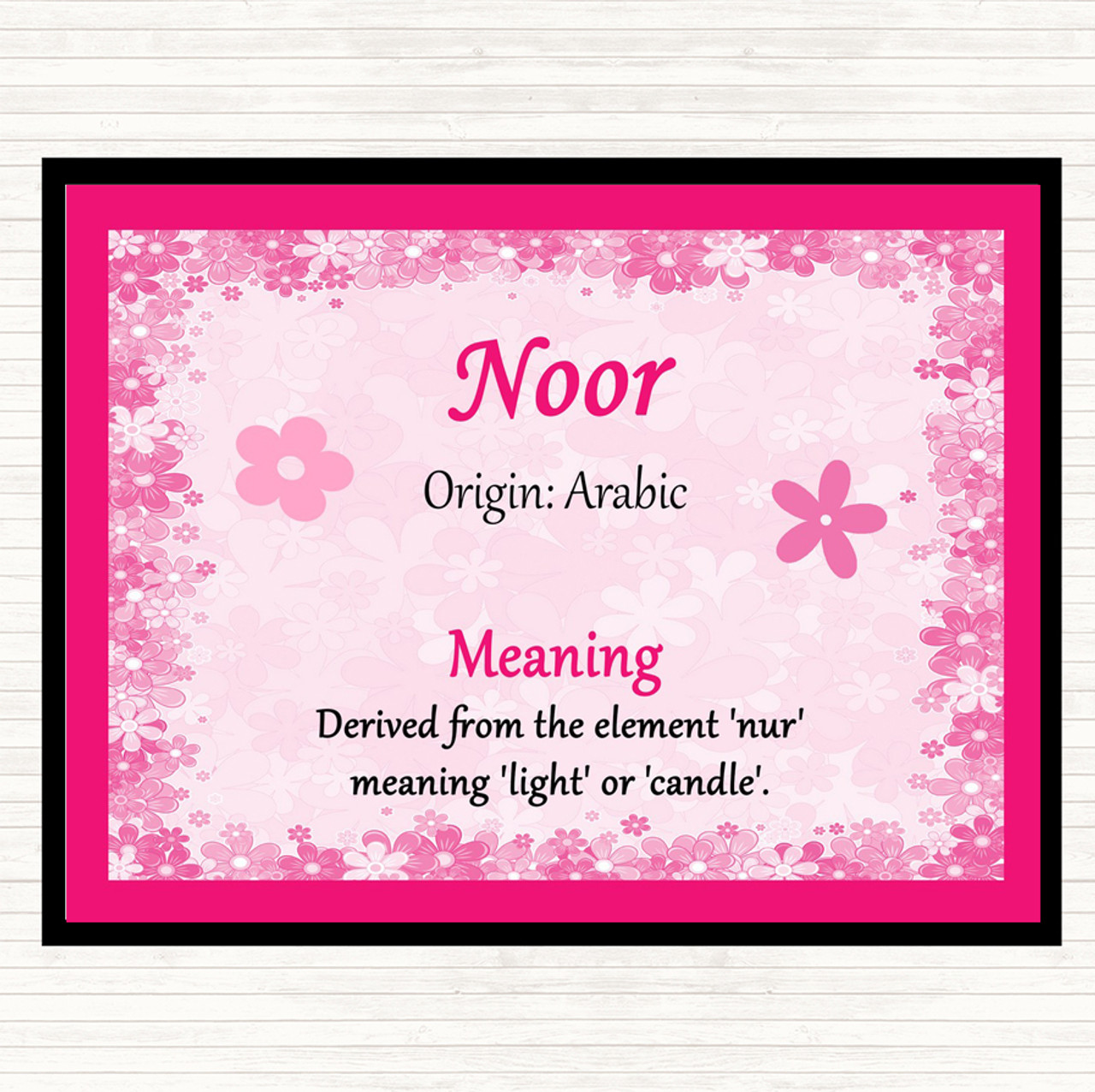 Noor name meaning in english
