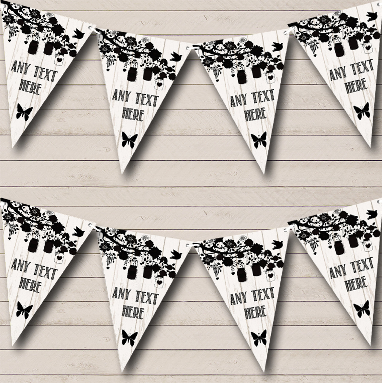 Hot Pink Damask Shabby Chic Vintage Personalised Retirement Party Bunting