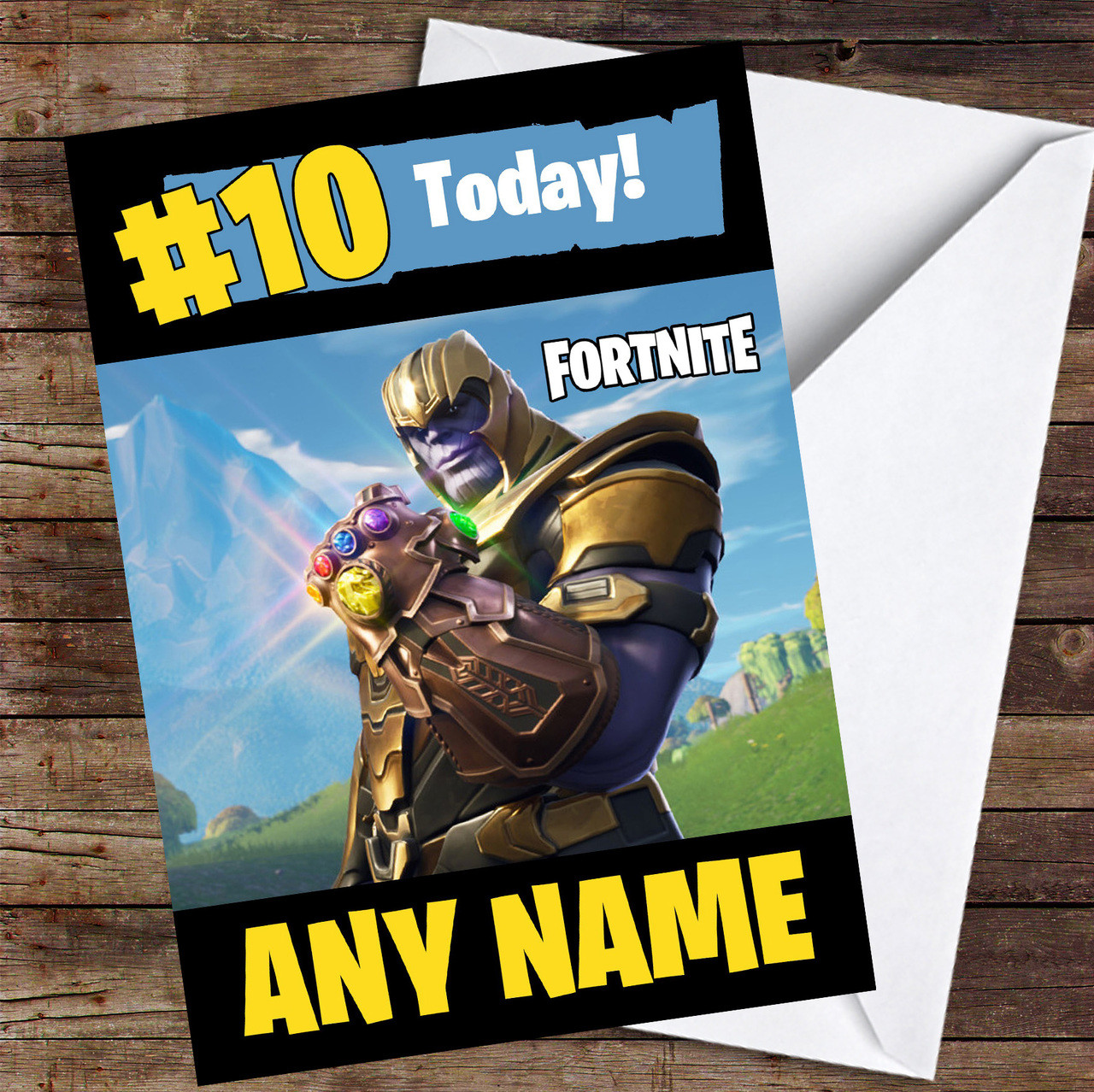 Fortnite Style Birthday Card Notecards & Greeting Cards