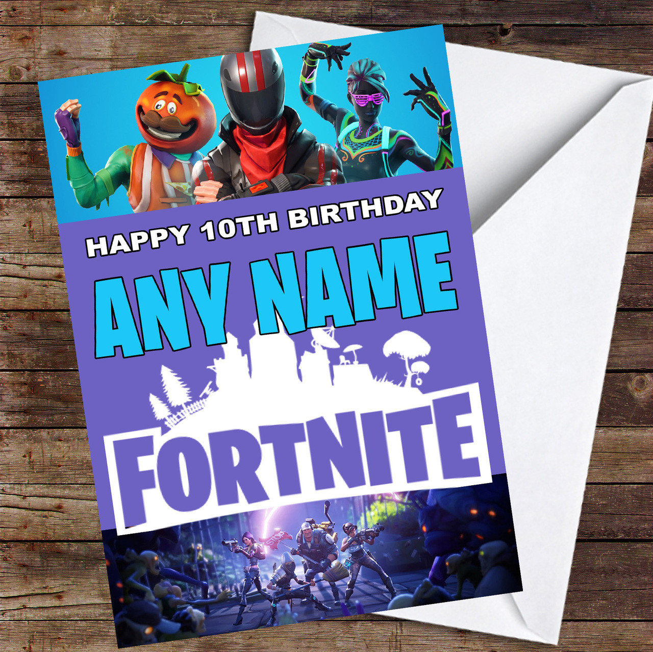 photo regarding Printable Children's Birthday Cards referred to as Sport Fortnite Individualized Childrens Birthday Card