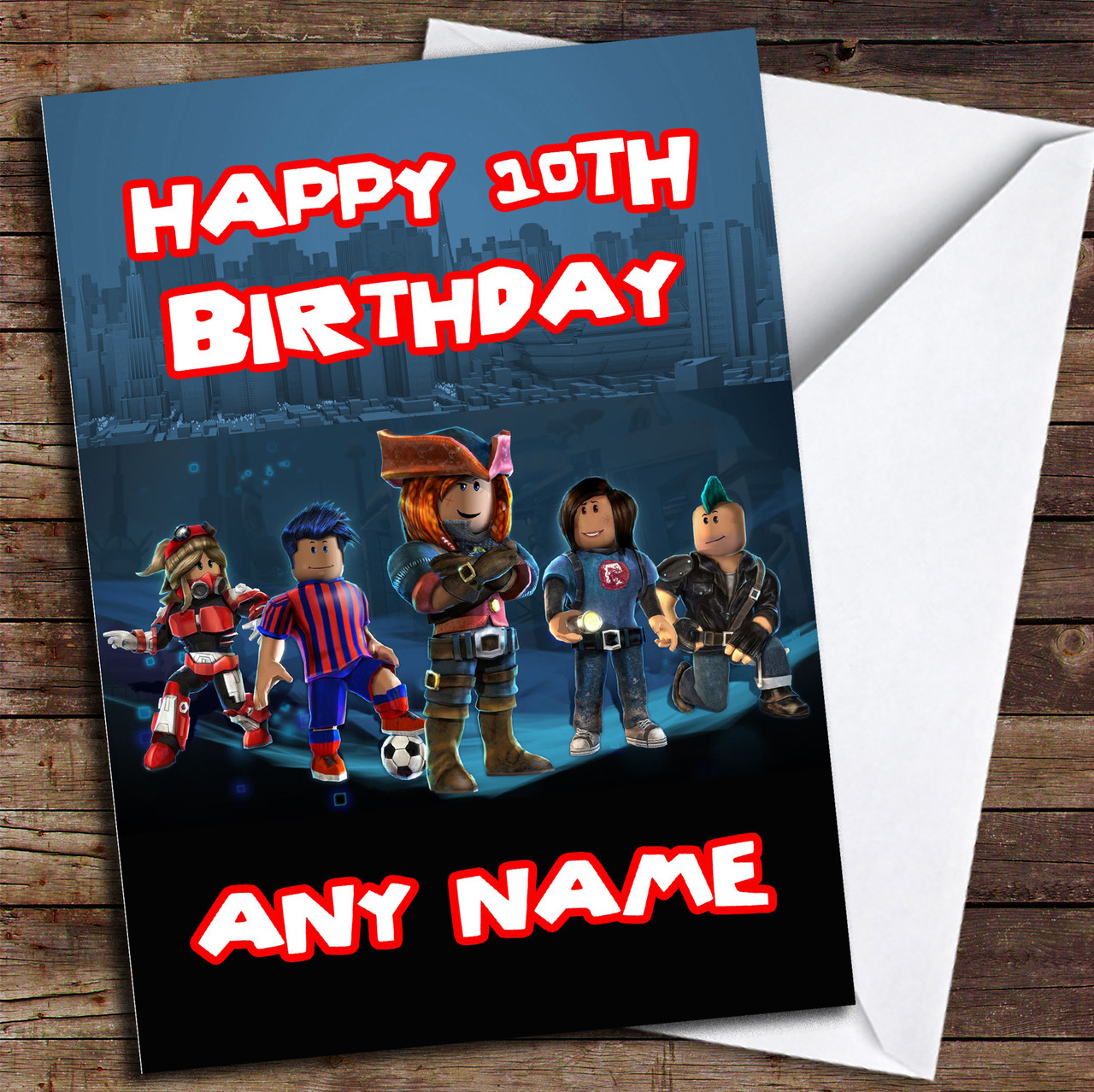 Roblox Font Style Roblox Style Personalize Name Birthday Card