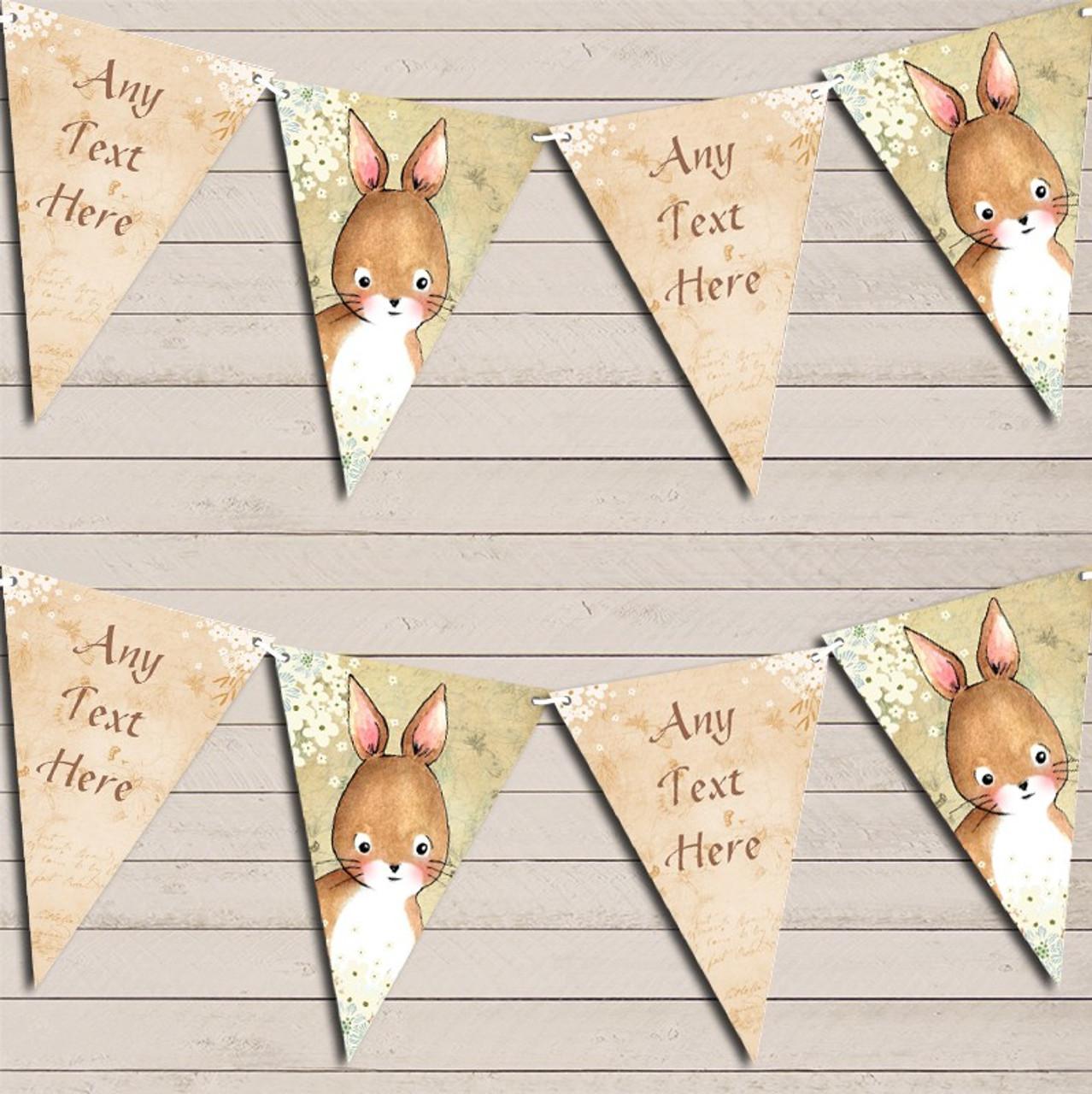 Vintage Woodland Baby Deer Rustic Personalised Children/'s Birthday Bunting