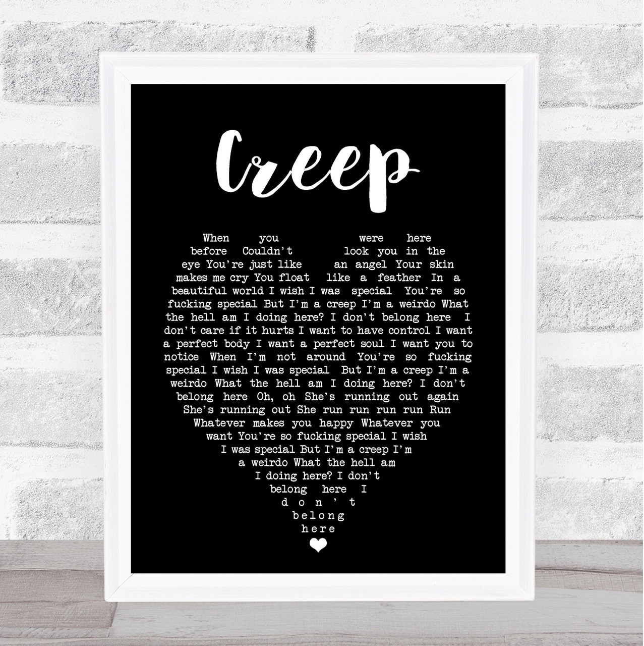 Anna Begins Black Heart Song Lyric Art Music Quote Gift Poster Print