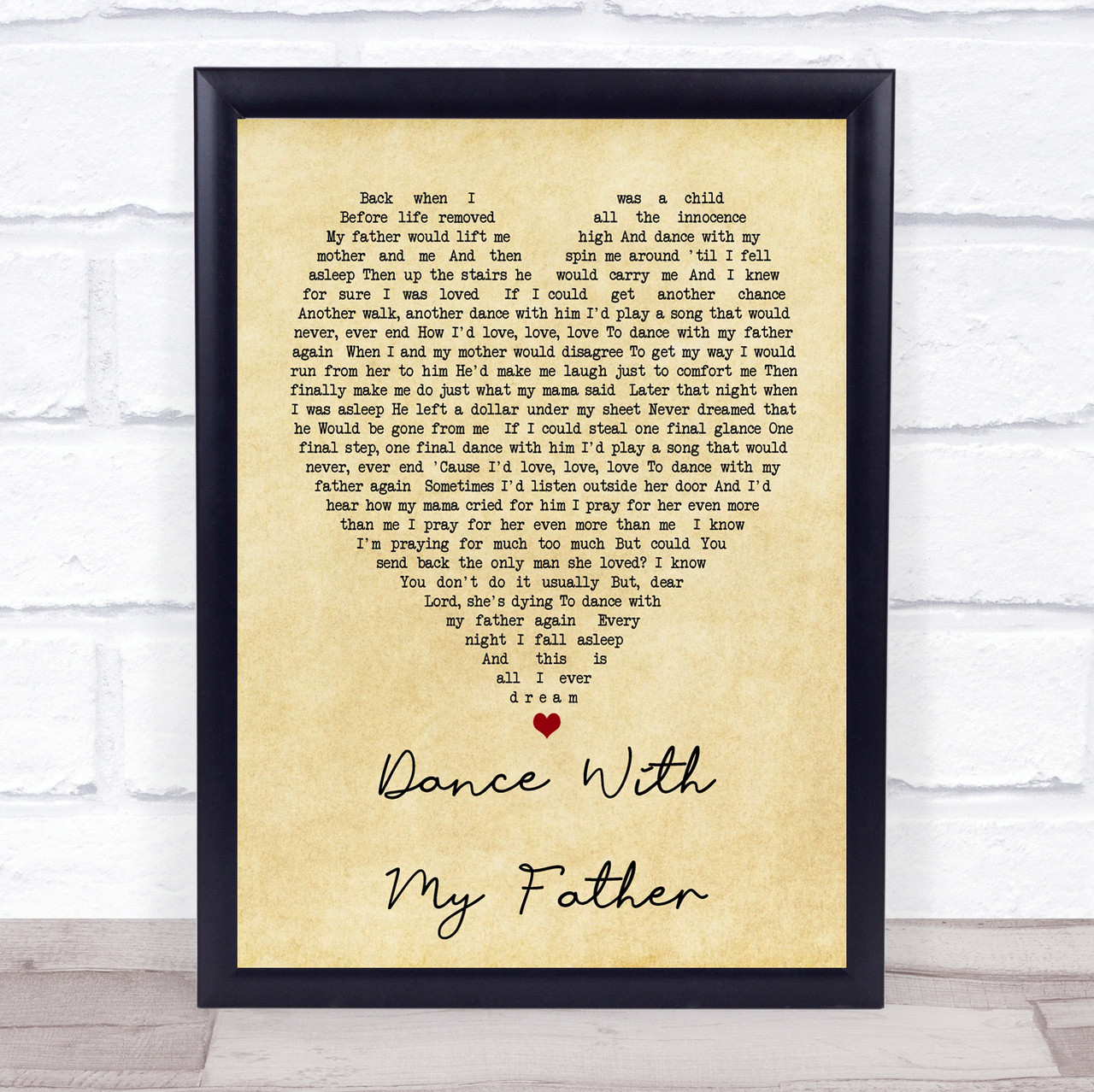 Luther Vandross With A Christmas Heart.Dance With My Father Luther Vandross Vintage Heart Song Lyric Quote Print