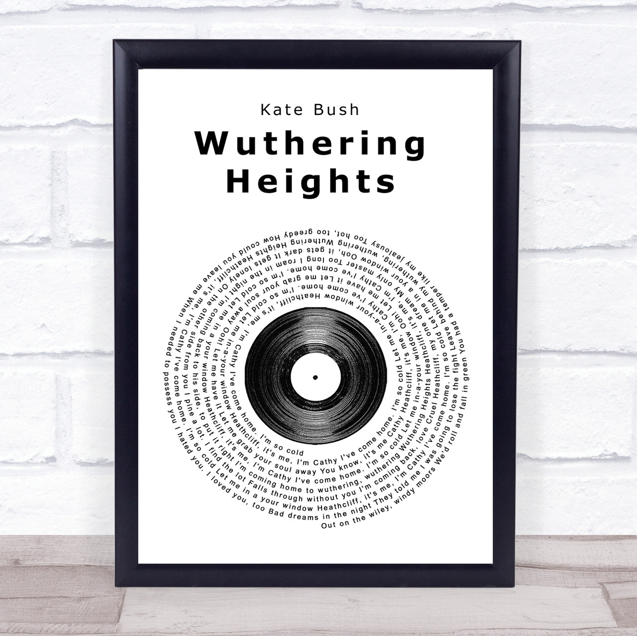 Wuthering Heights Song Lyric Quote Print