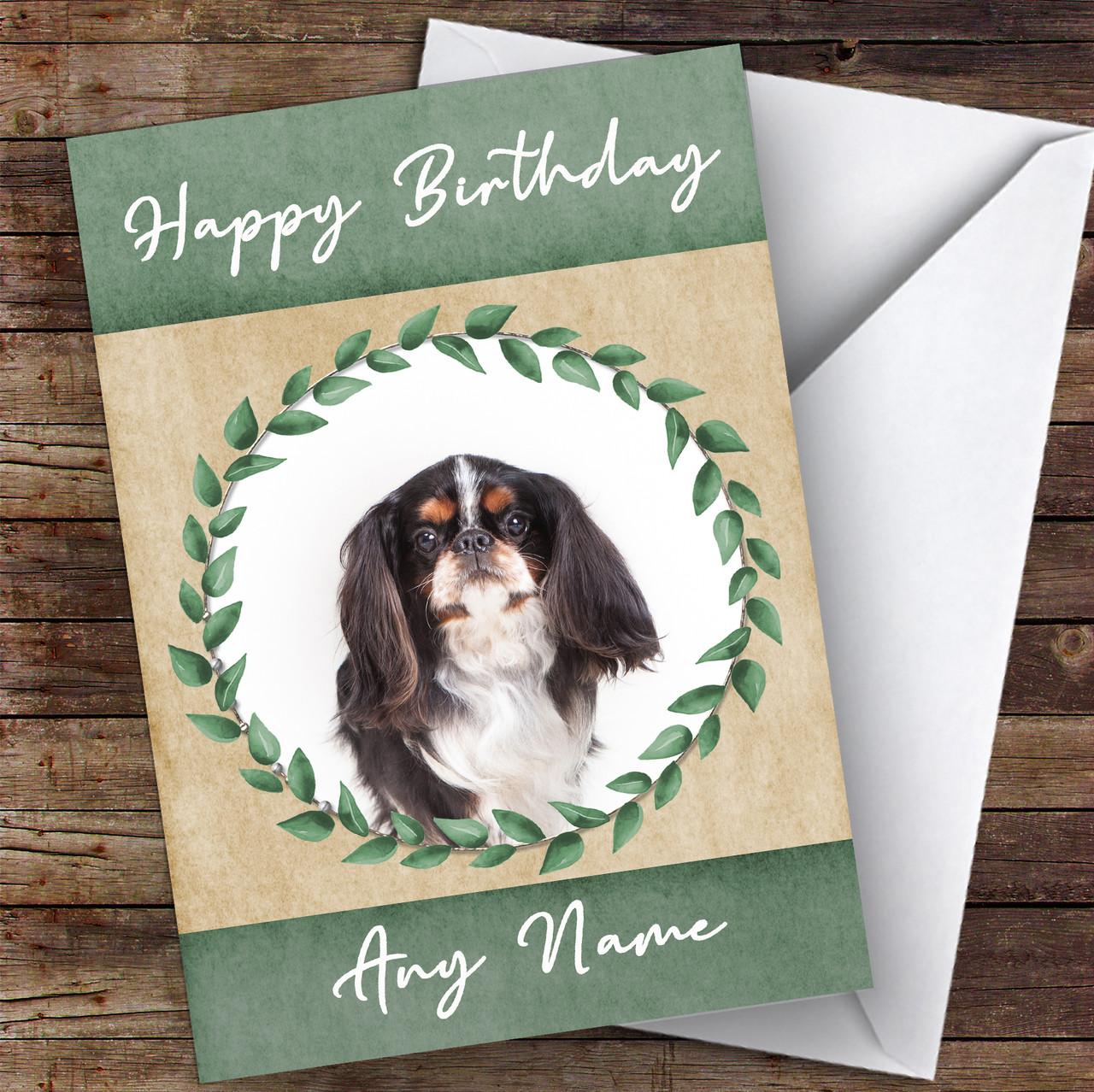 KING CHARLES ENGLISH TOY SPANIEL DOG BIRTHDAY GREETINGS NOTE CARD