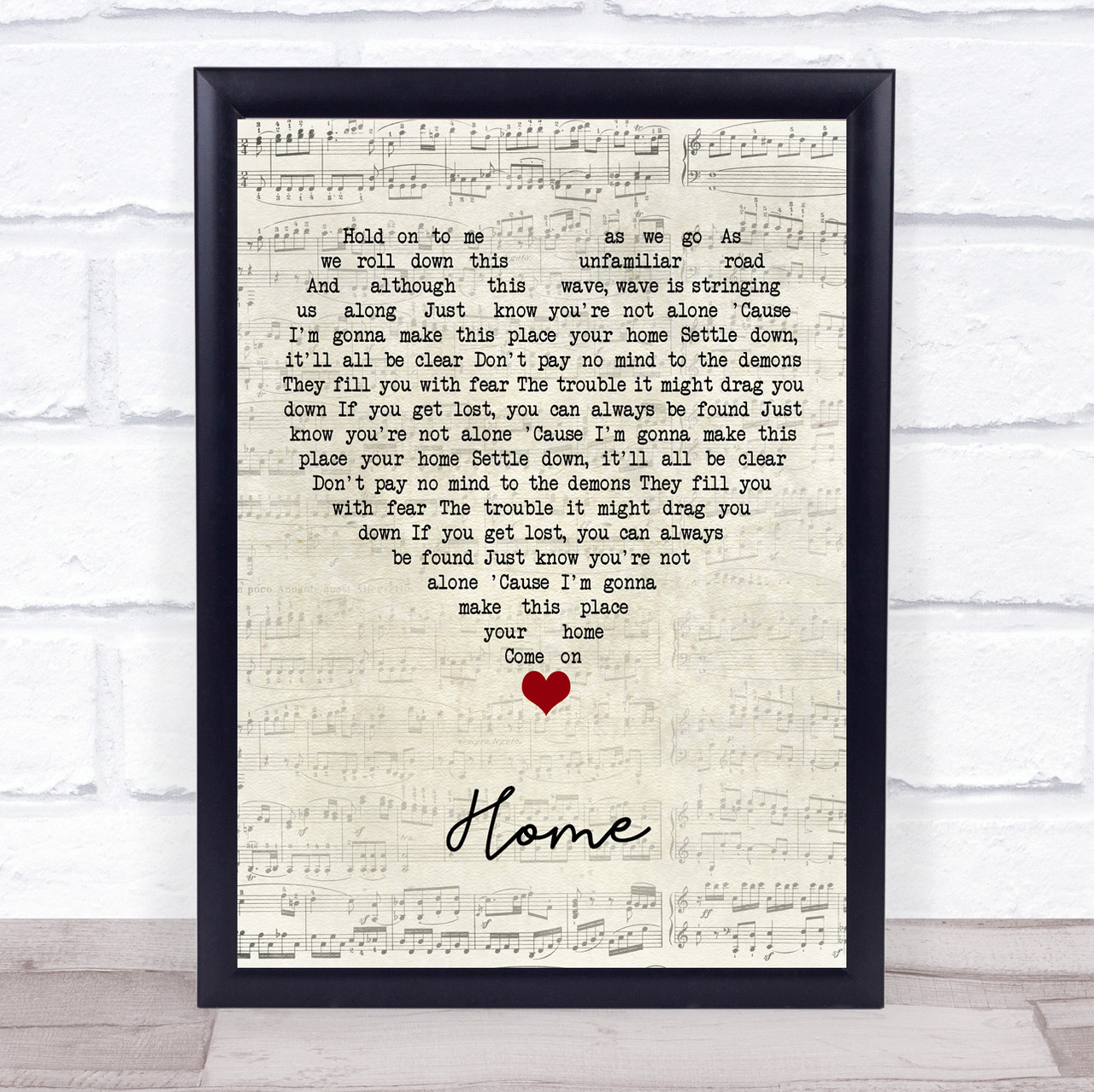 Phillip Phillips Home Script Heart Song Lyric Quote Music Print The Card Zoo