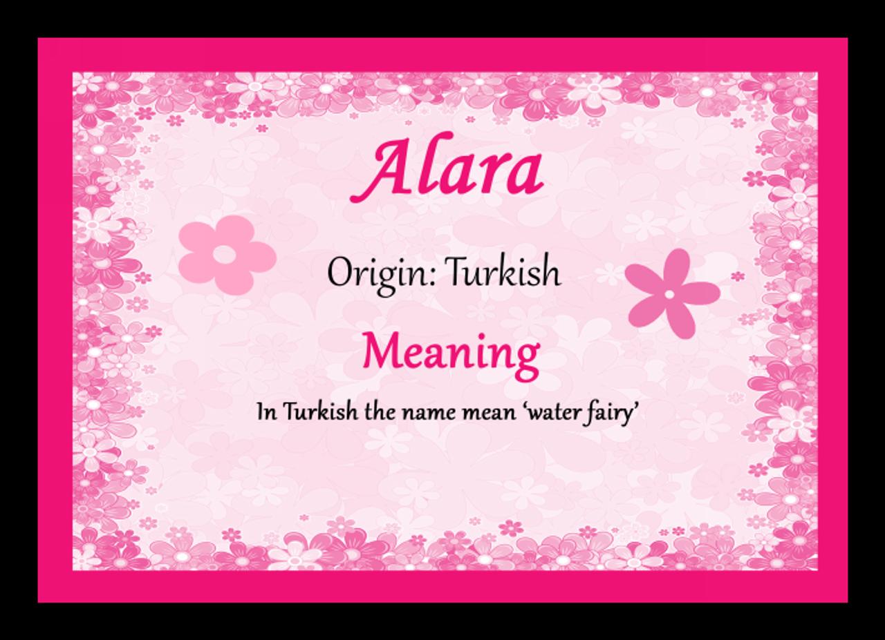 Alara Personalised Name Meaning Certificate