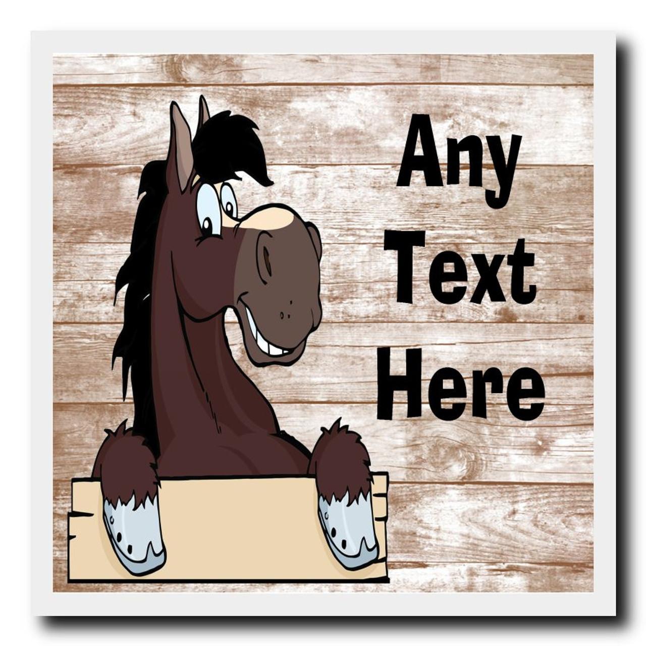 Donkey Personalised Drinks Mat Coaster