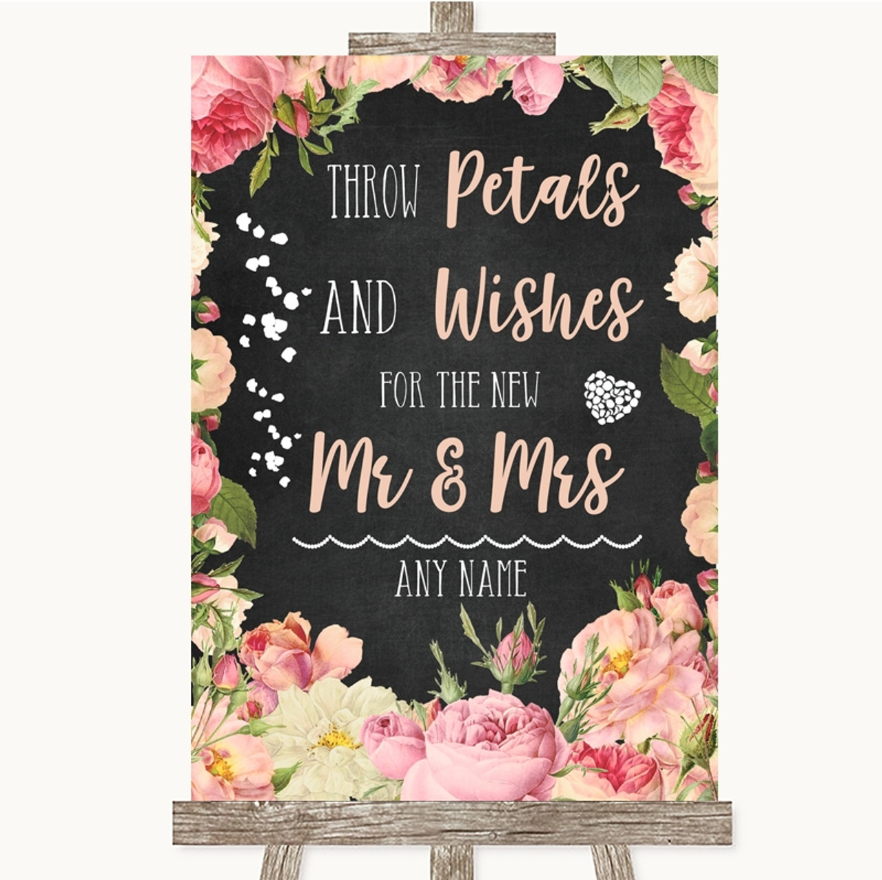 Wedding Supplies Pink Watercolour Floral We Are Getting Married Personalised Wedding Sign Venue Decorations