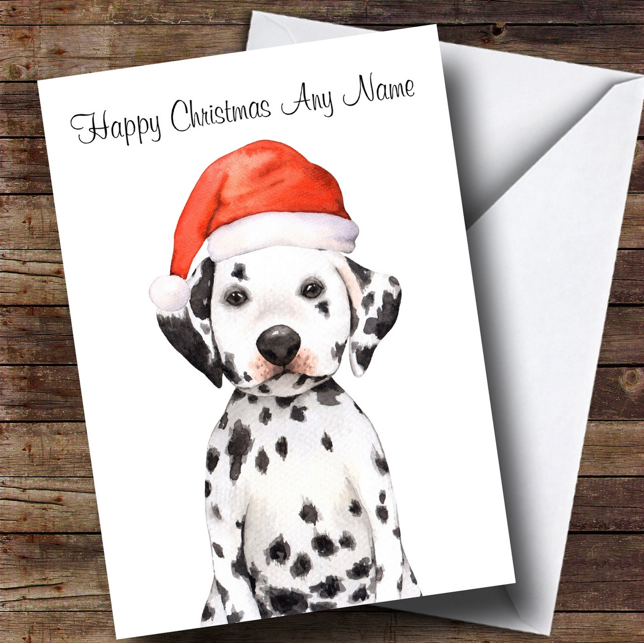 Cold Outside Snow Dog Dalmatian Personalised Christmas Card