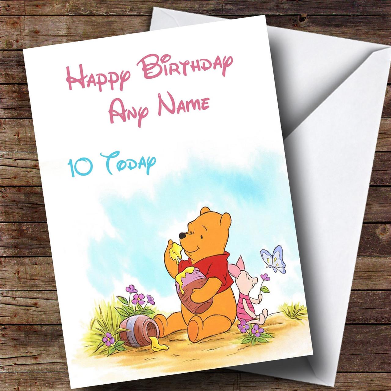 Winnie The Pooh Personalised Children/'s Birthday Bunting