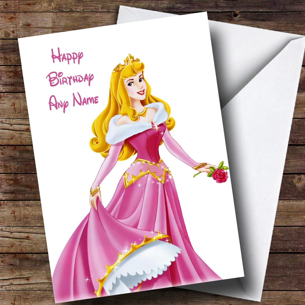 Personalised Disney Sleeping Beauty Childrens Birthday Card