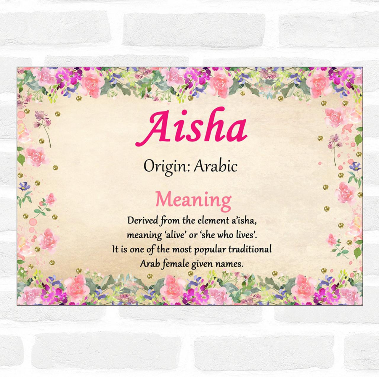 Aisha name images