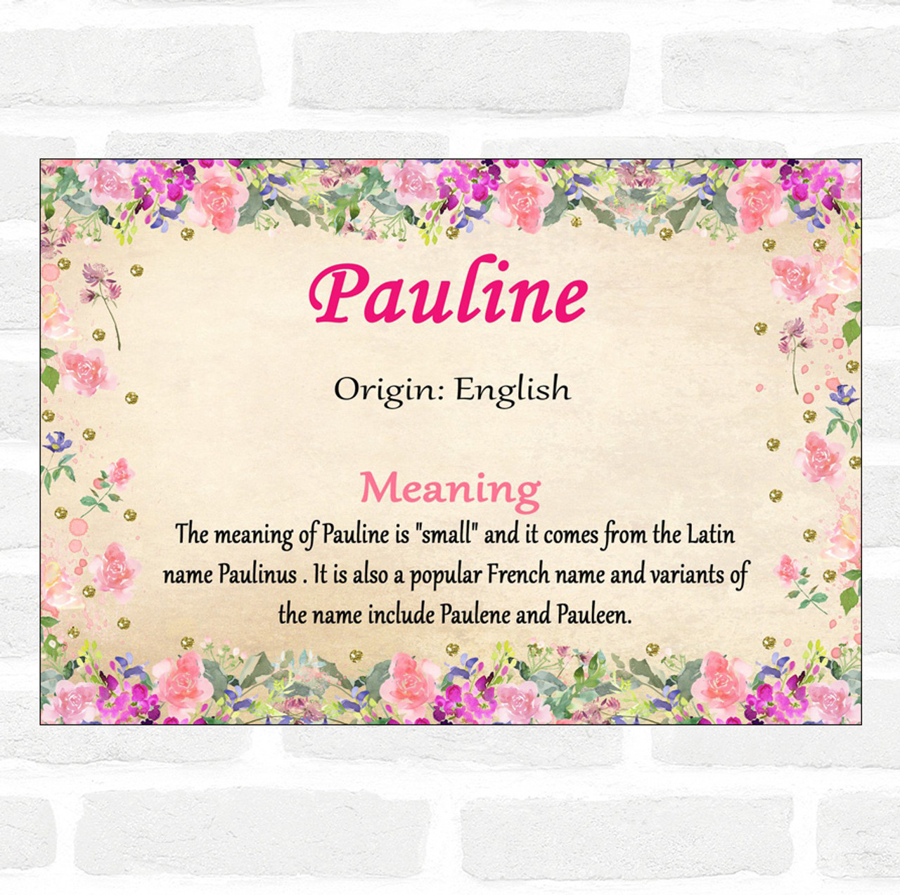 The meaning of the name Pauline: the nature of the character