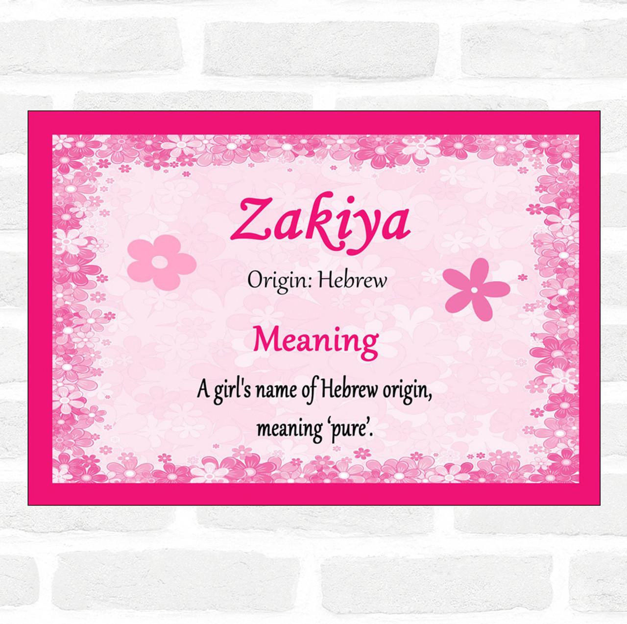 zakiya name