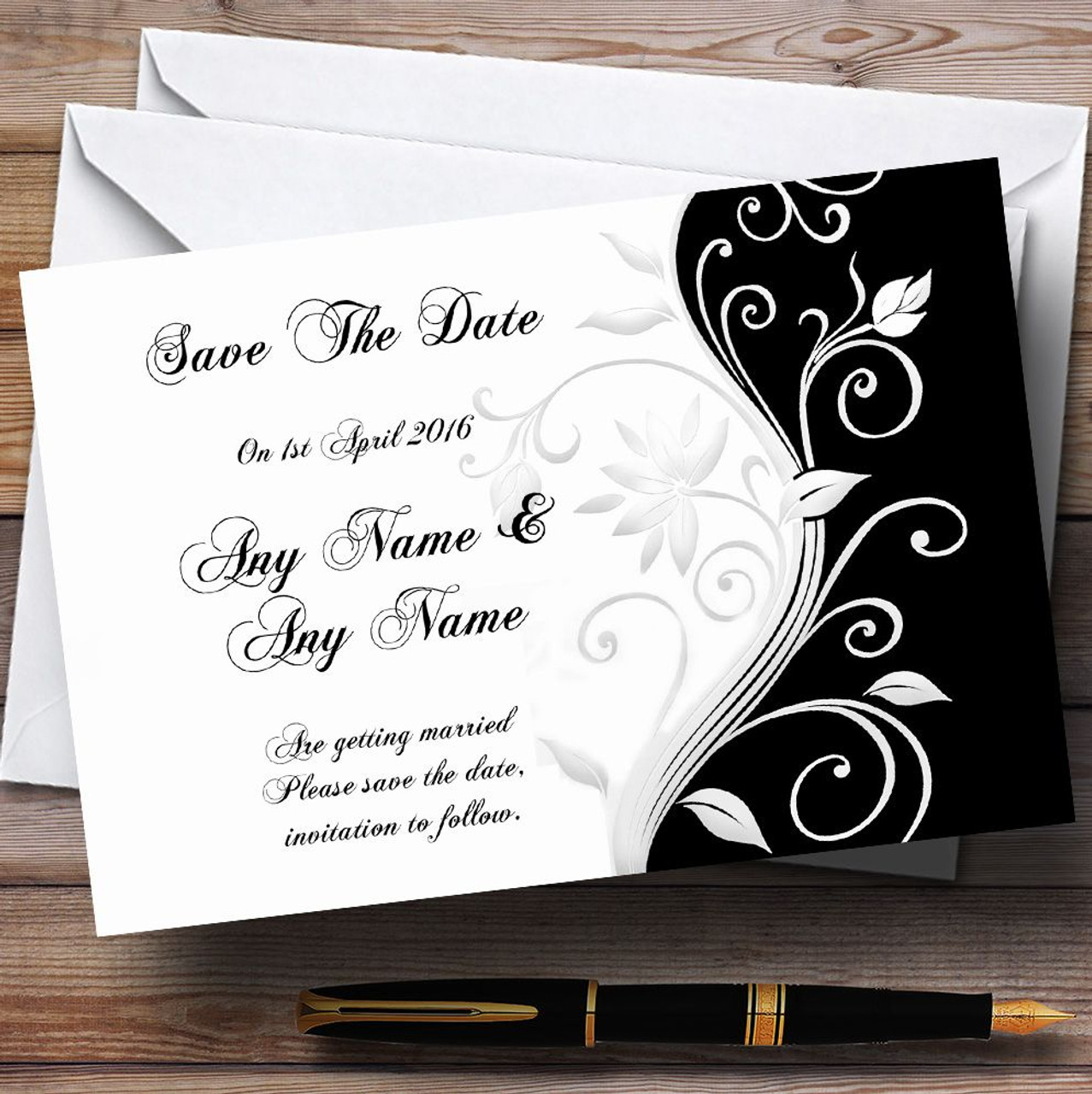 Party Supplies 10 x Invitations White Bokeh & Silver Glitter Look 40Th Personalised Christening Invites Any Wording