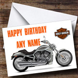Harley Davidson Bike Personalised Birthday Card