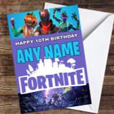 Game Fortnite Personalised Children's Birthday Card