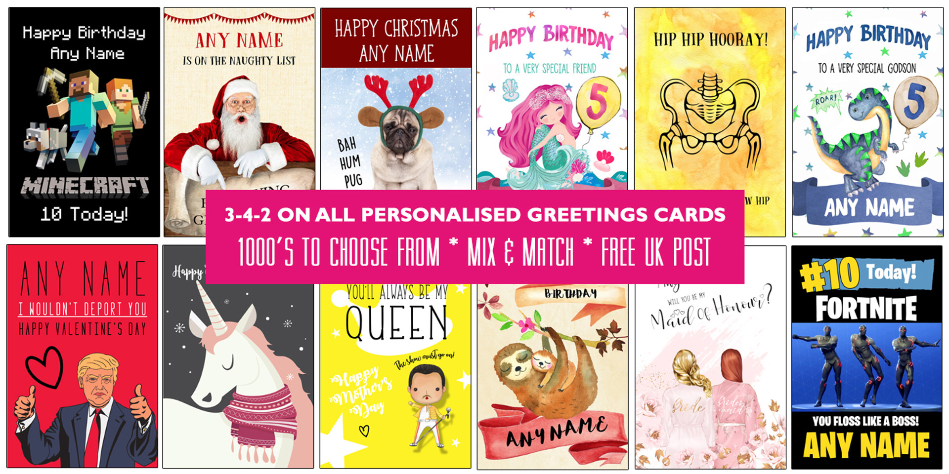 Three For Two on all personalised greeting cards | The Card Zoo
