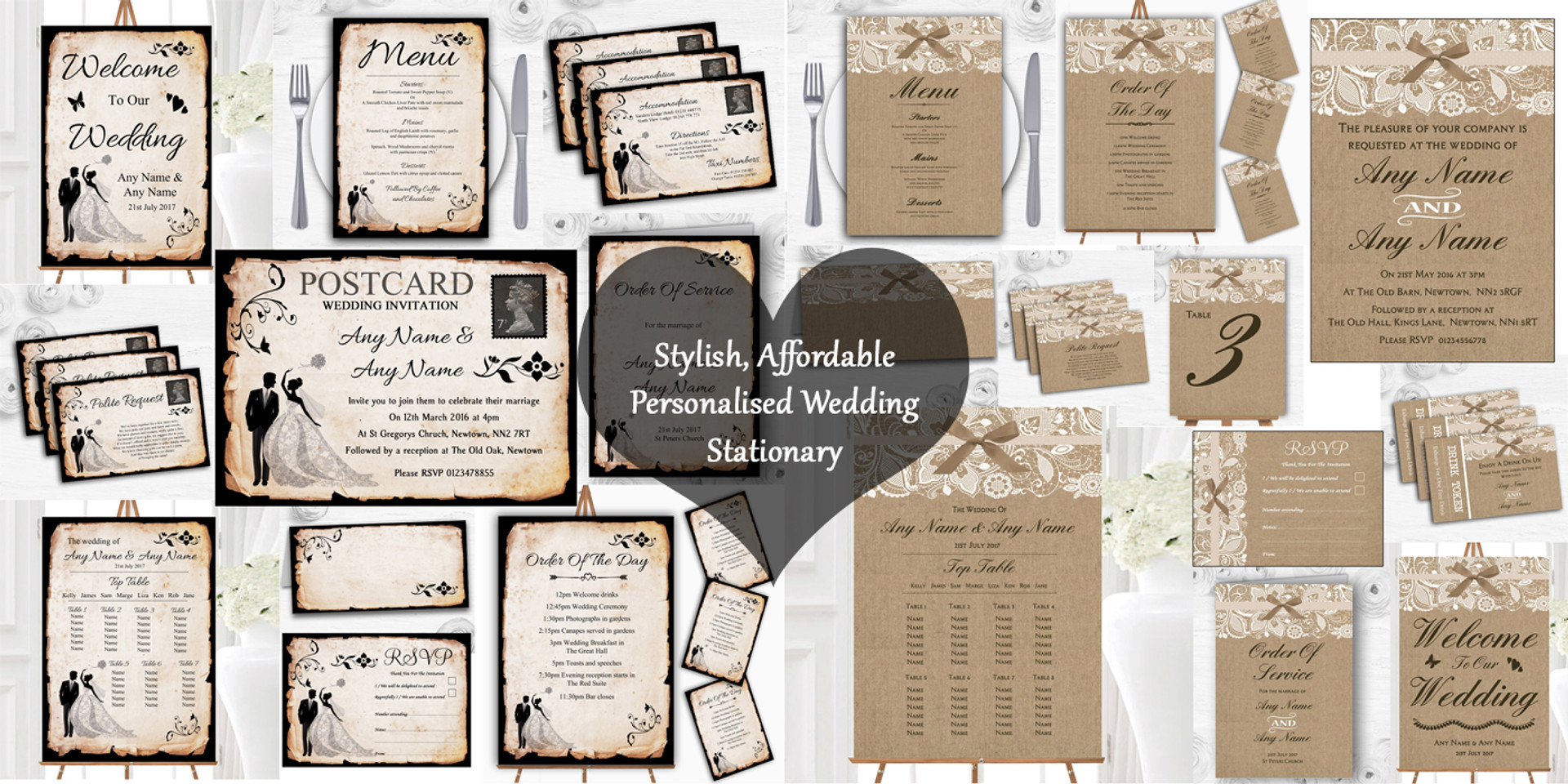 Personalised Wedding Stationary | The Card Zoo