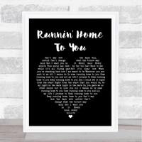Heart Vintage Music Print Art Poster Running Home To You Grant-Gustin Lyrics Little Heart Design Treeline Peace Gifts Print Art Unframed