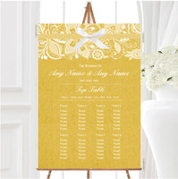Vintage Mint Green Burlap /& Lace Personalised Wedding Seating Table Plan