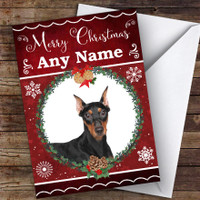 German Pinscher Dog Traditional Animal Personalized Mother/'s Day Card