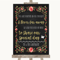Chalk Style Black /& White Lights Pimp Your Prosecco Personalised Wedding Sign