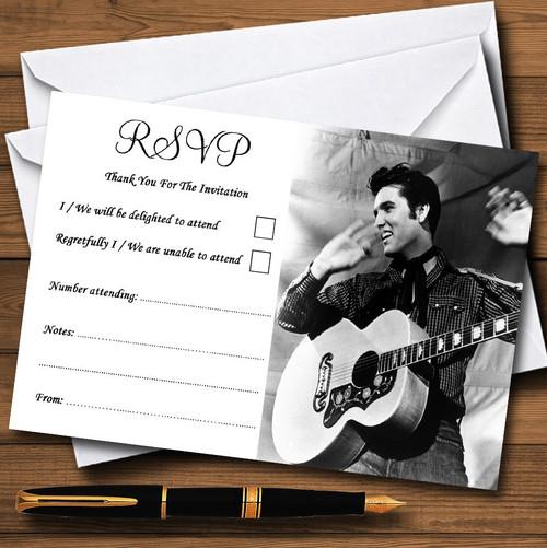 Elvis Presley Personalised RSVP Cards