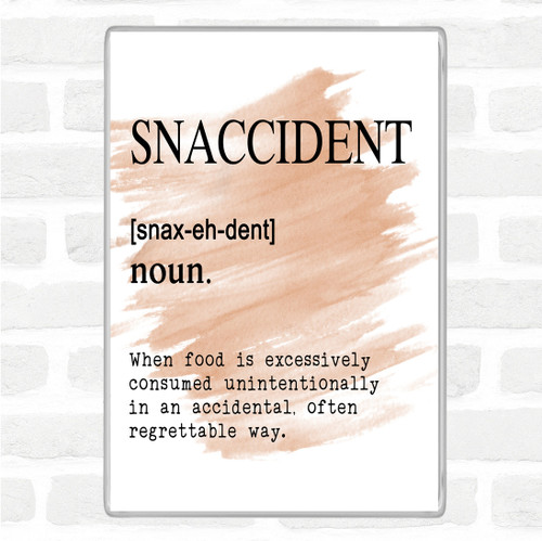 Word Definition Snaccident Rainbow Quote Jumbo Fridge Magnet