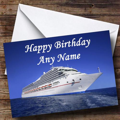 Cruise Ship Personalised Birthday Card
